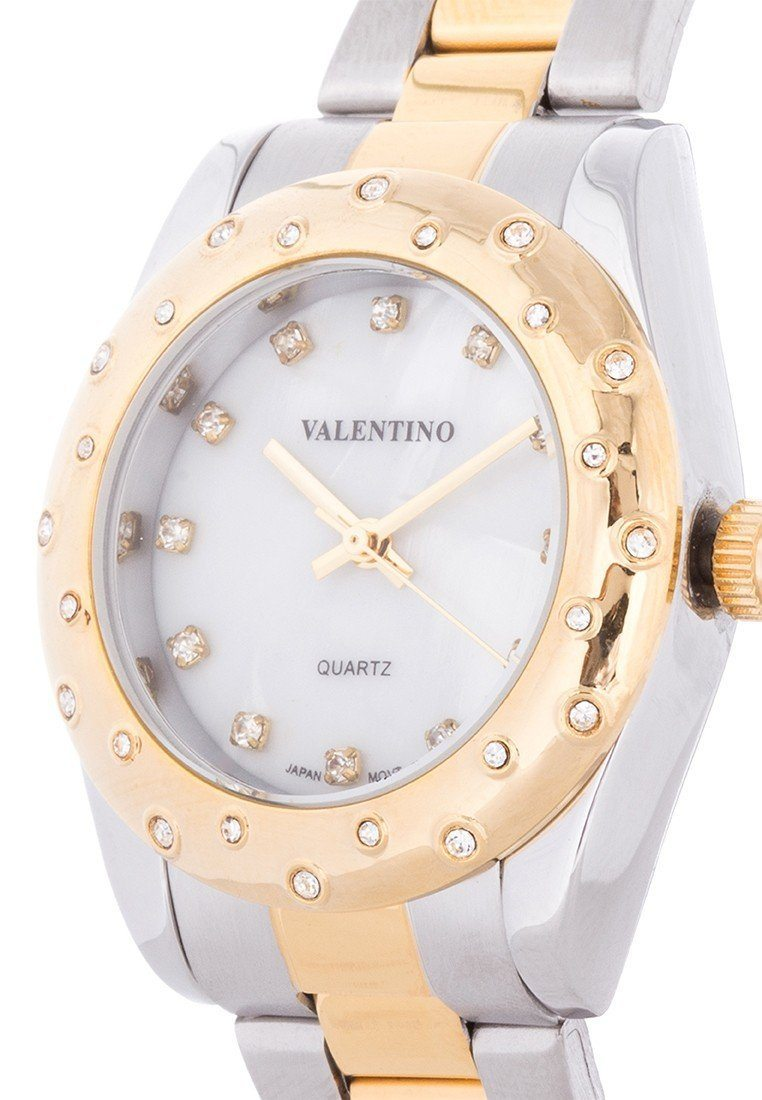 Valentino 20121973-TWO TONE - MOP DIAL TWO TONE STAINLESS BAND Watch For Women - Watchportal Philippines