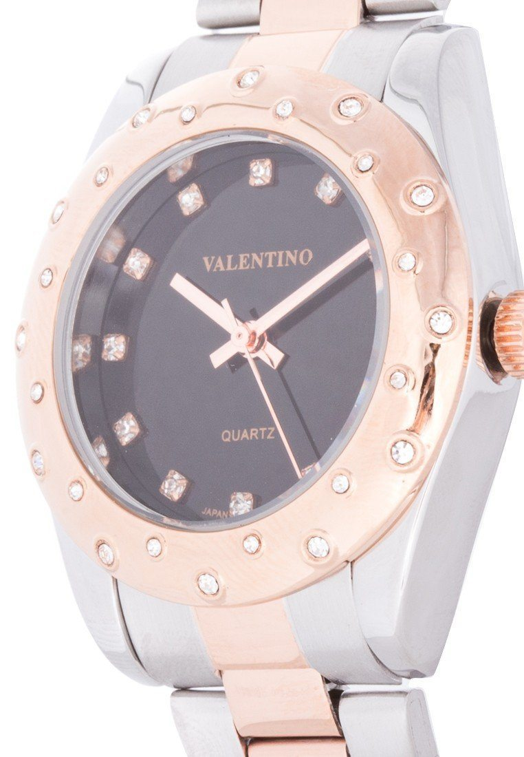 Valentino 20121974-TWO TONE - BLACK DIAL TWO TONE STAINLESS BAND Watch For Women - Watchportal Philippines