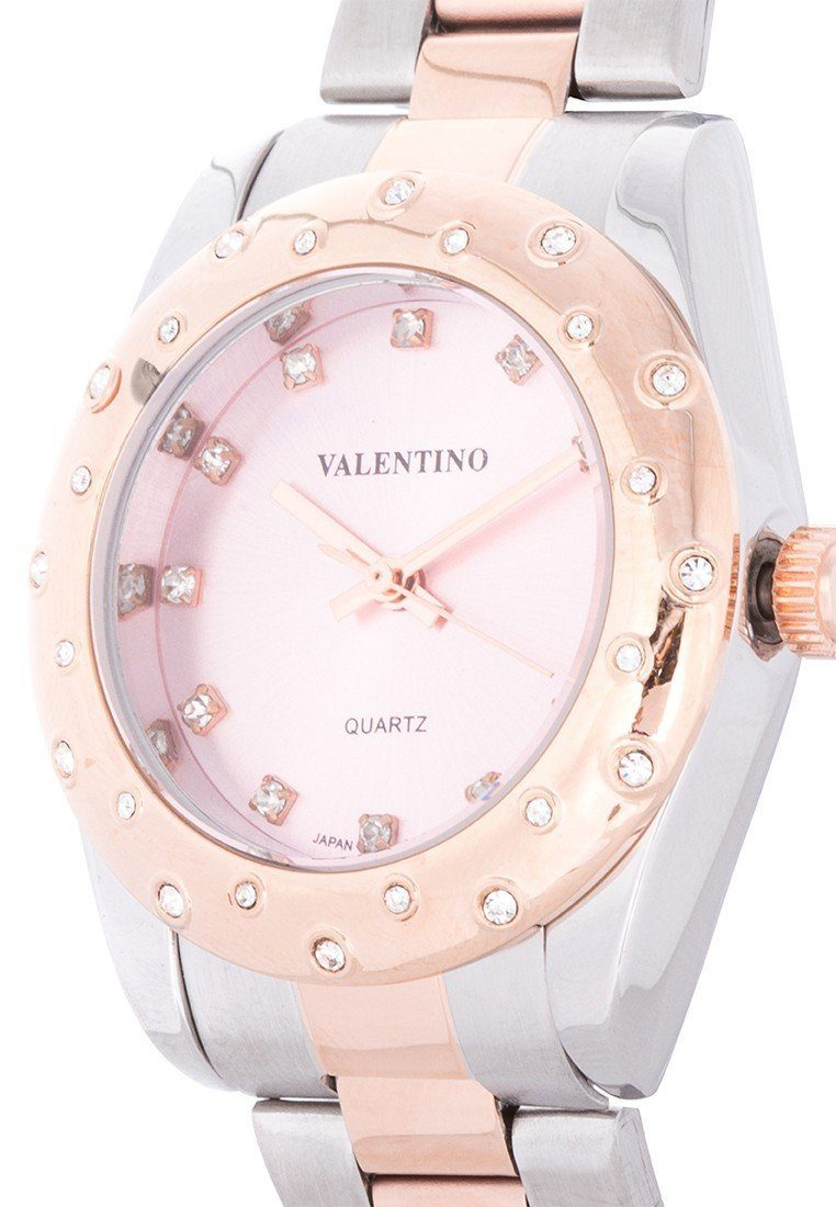 Valentino 20121974-TWO TONE - PINK DIAL TWO TONE STAINLESS BAND Watch For Women - Watchportal Philippines