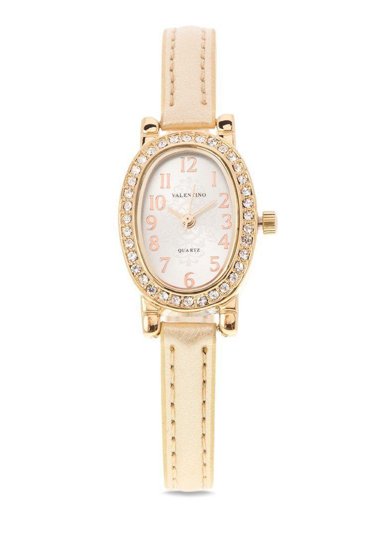 Valentino 20121976-GOLD - GOLD LEATHER STRAP Watch For Women