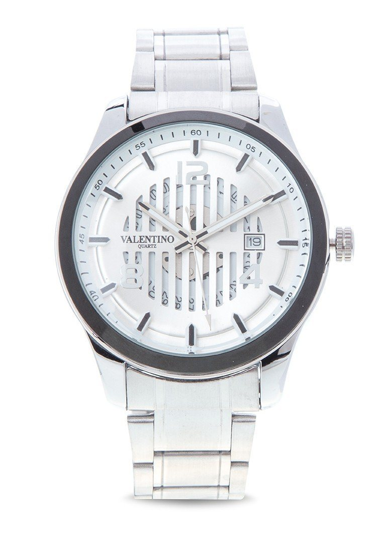 Valentino 20121977-SILVER DIAL - SILVER STAINLESS BAND Watch For  Men
