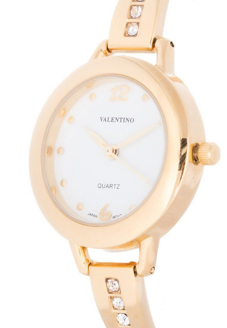 Valentino 20121980-WHITE DIAL - GOLD FASHION METAL - ALLOY Watch For Women