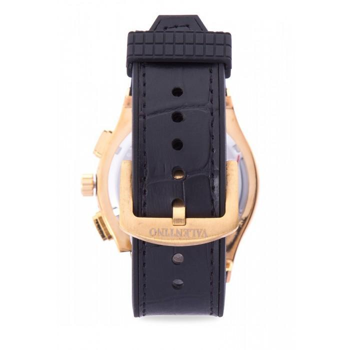 Valentino 20122069-BLACK DIAL BLACK RUBBER STRAP Watch for Men