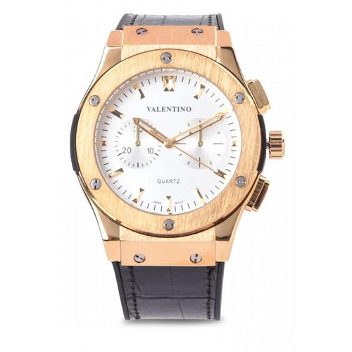 Valentino 20122069-WHITE DIAL BLACK RUBBER STRAP Watch for Men