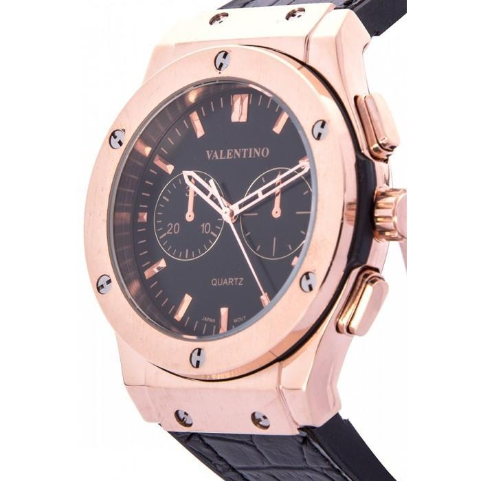 Valentino 20122070-BLACK DIAL BLACK RUBBER STRAP Watch for Men