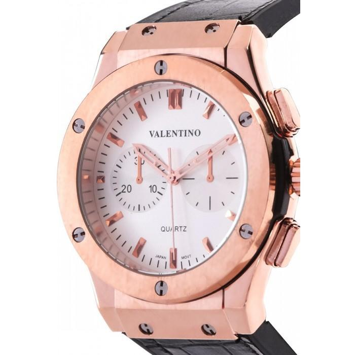 Valentino 20122070-WHITE DIAL BLACK RUBBER STRAP Watch for Men