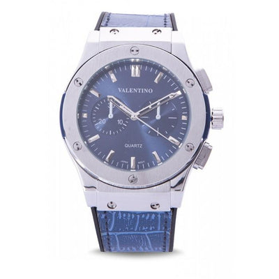 Valentino 20122071-BLUE DIAL BLUE RUBBER STRAP WATCH for Men