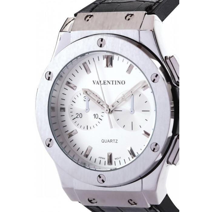 Valentino 20122071-WHITE DIAL BLACK RUBBER STRAP Watch for Men