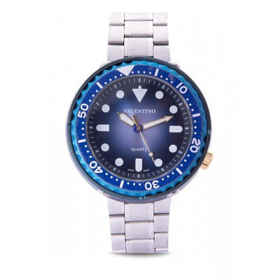 Valentino 20122072-BLUE DIAL SILVER STAINLESS STEEL Watch for Men