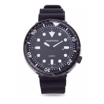 Valentino 20122074-BLACK CASE BLACK RUBBER STRAP Watch for Men
