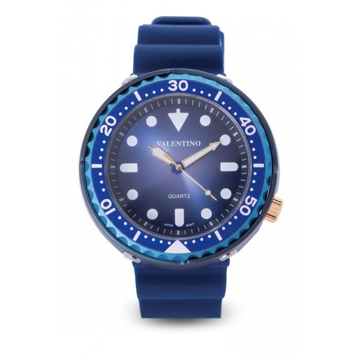 Valentino 20122074-BLUE CASE BBLUE RUBBER STRAP Watch for Men