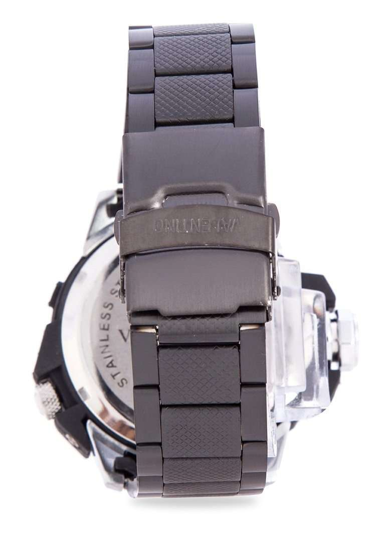 Valentino 20122082-BLACK VESSEL BLACK STAINLESS STEEL STRAP Watch for Men