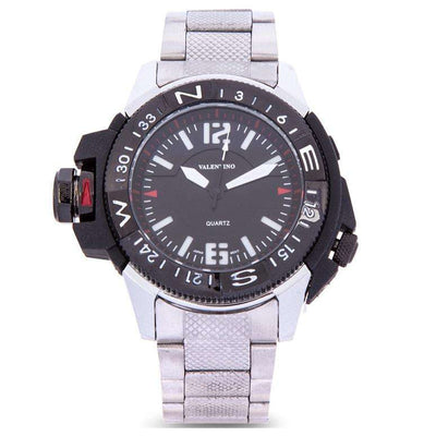 Valentino 20122083-BLK VESSEL - BLK DIAL SILVER STAINLESS STEEL STRAP Watch for Men