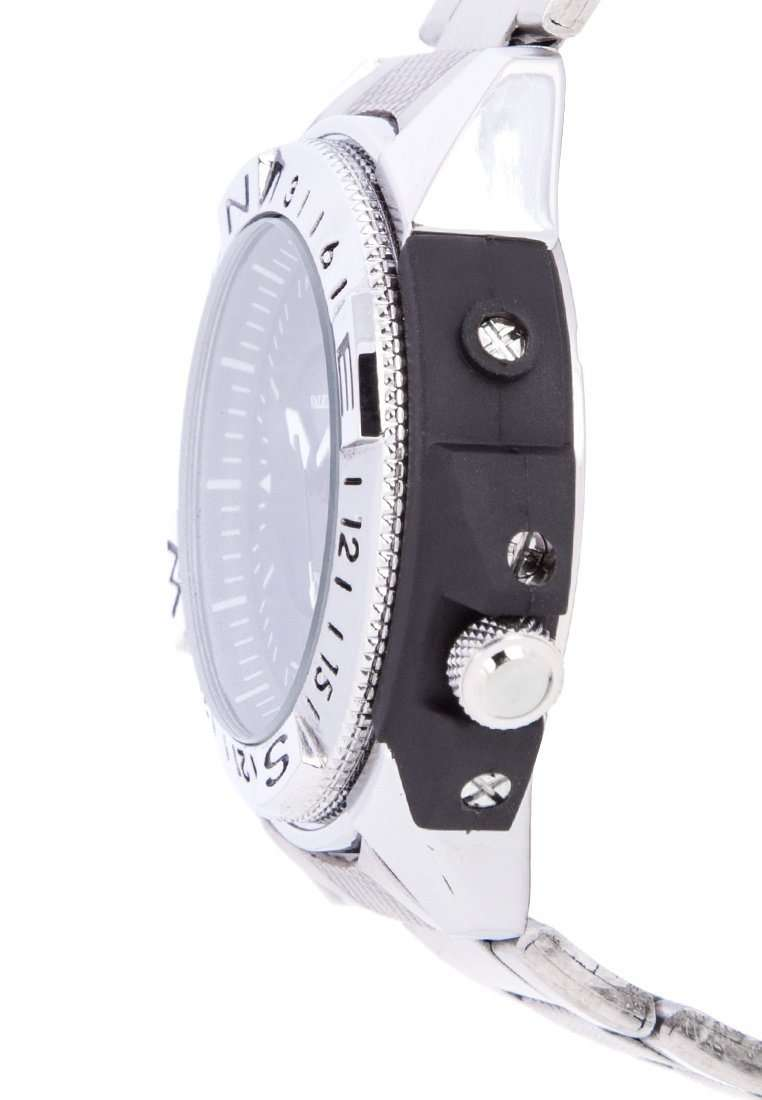 Valentino 20122083-SIL VESSEL - BLK DIAL SILVER STAINLESS STEEL STRAP Watch for Men