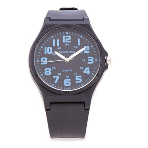 Valentino  20122084-BLUE NUMBER BLACK RUBBER STRAP Watch for Men and Women