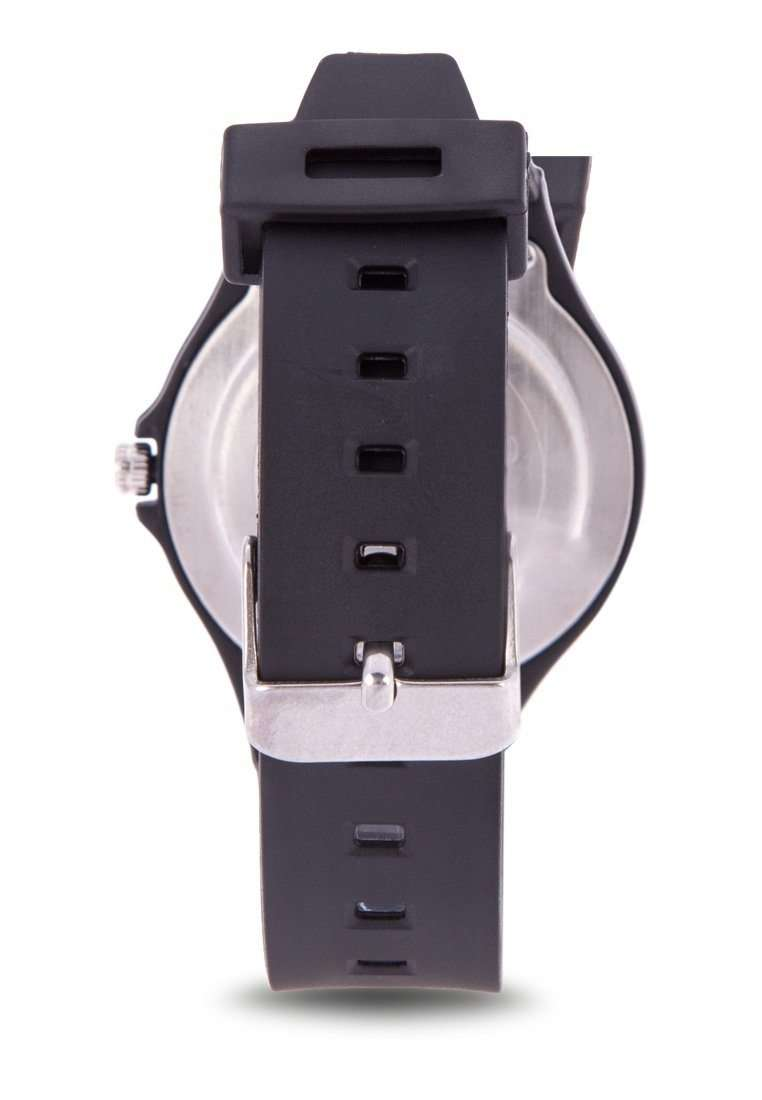 Valentino 20122084-DOT - SILVER DIAL BLACK RUBBER STRAP Watch for Men and Women
