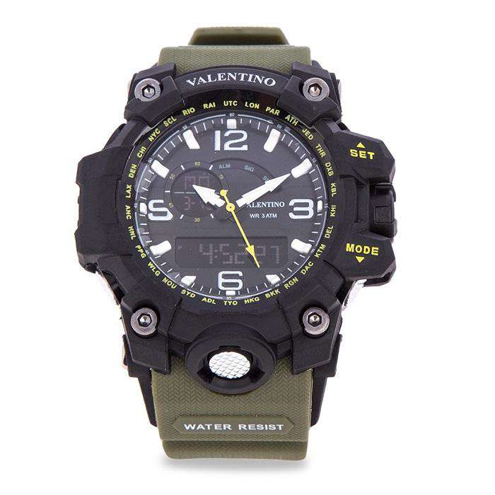 Valentino 20122085-GREEN STRAP GREEN RUBBER STRAP Watch for Men