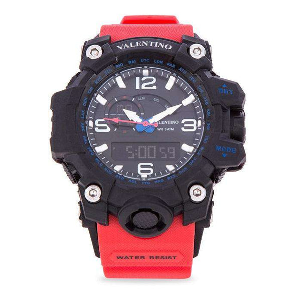 Valentino 20122085-RED STRAP RED RUBBER STRAP Watch for Men