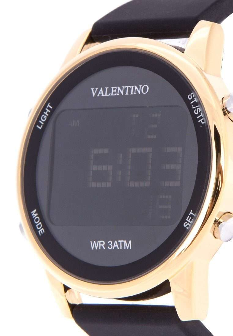 Valentino 20122088-GOLD CASE BLACK RUBBER STRAP Watch for Men