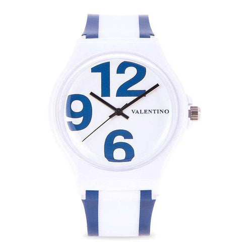 Valentino 20122091-BLUE WHITE BLUE WHITE PLASTIC STRAP Watch for Women and Men