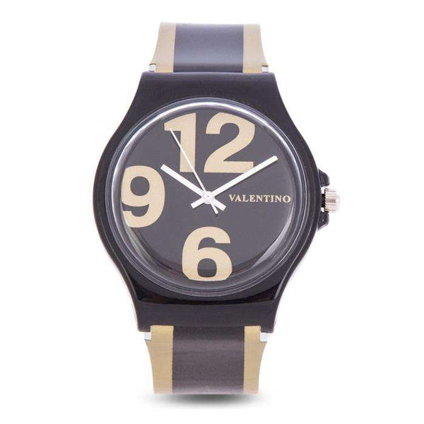 Valentino 20122091-GOLD BLACK GOLD BLACK PLASTIC STRAP Watch for Men and Women