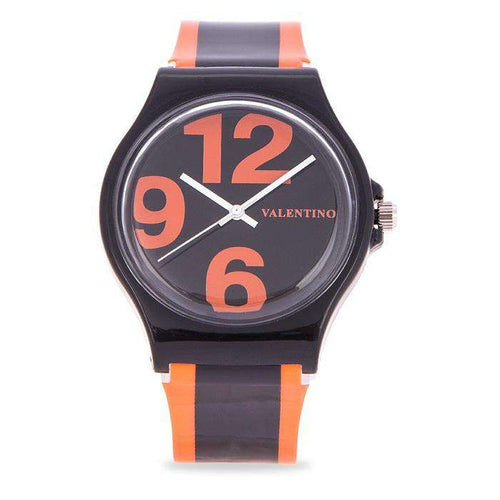 Valentino 20122091-ORANGE BLACK ORANGE BLACK PLASTIC STRAP Watch for Men and Women