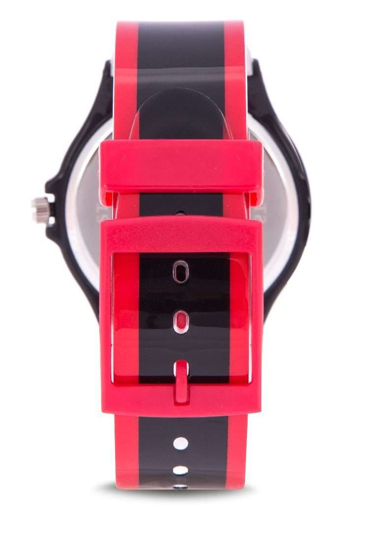 Valentino 20122091-RED BLACK RED BLACK PLASTIC STRAP Watch for Men and Women