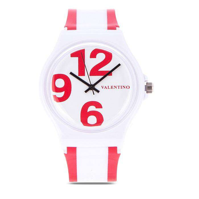 Valentino 20122091-RED WHITE RED WHITE PLASTIC STRAP Watch for Women and Men