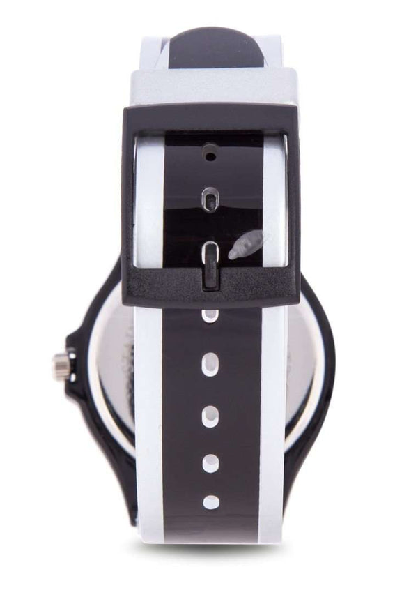 Valentino 20122091-SILVER BLACK SILVER BLACK PLASTIC STRAP Watch for Men and Women