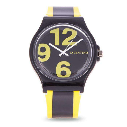 Valentino 20122091-YELLOW BLACK YELLOW BLACK PLASTIC STRAP Watch for Women and Men