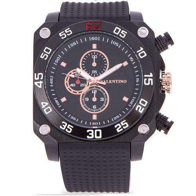 Valentino 20122092-BLACK CASE BLACK RUBBER STAP Watch for Men