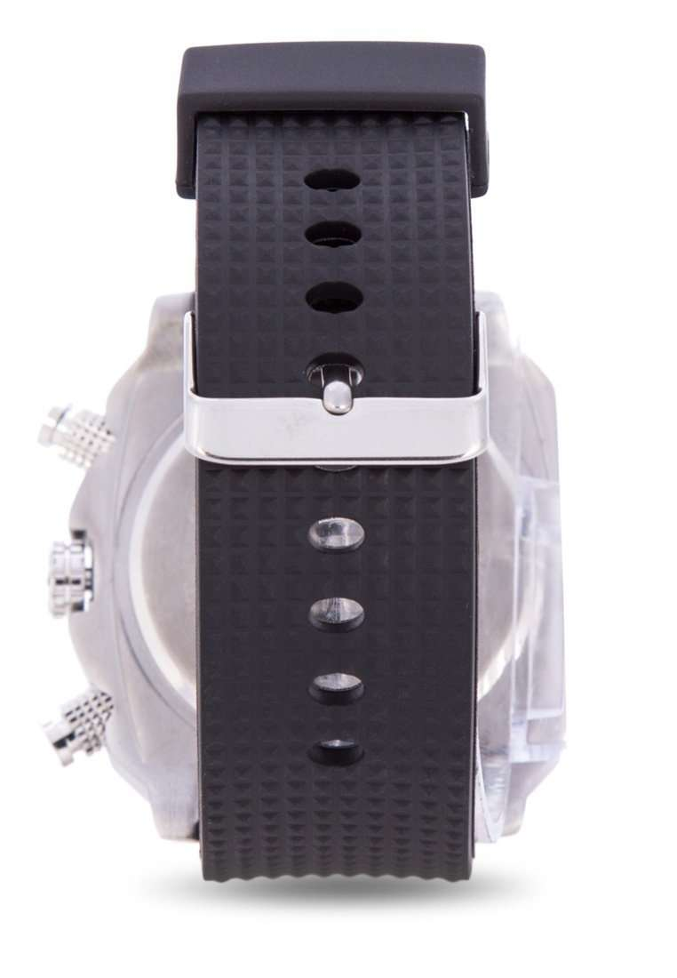 Valentino 20122093-SILVER CASE BLACK RUBBER STRAP Watch for Men