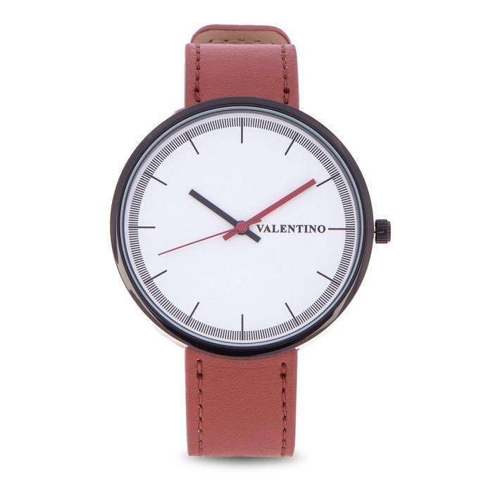 Valentino 20122095-RED BROWN STRAP RED BROWN LEATHER STRAP Watch for Men and Women