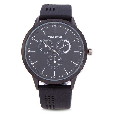 Valentino 20122096-WHITE INDEX BLACK SILICON STRAP Watch for Men