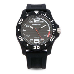 Valentino 20122097-BLACK CASE BLACK RUBBER STRAP Watch for Men