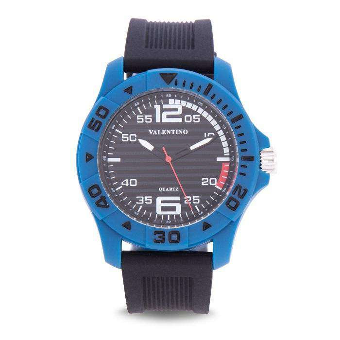 Valentino 20122097-BLUE CASE BLACK RUBBER STRAP Watch for Men