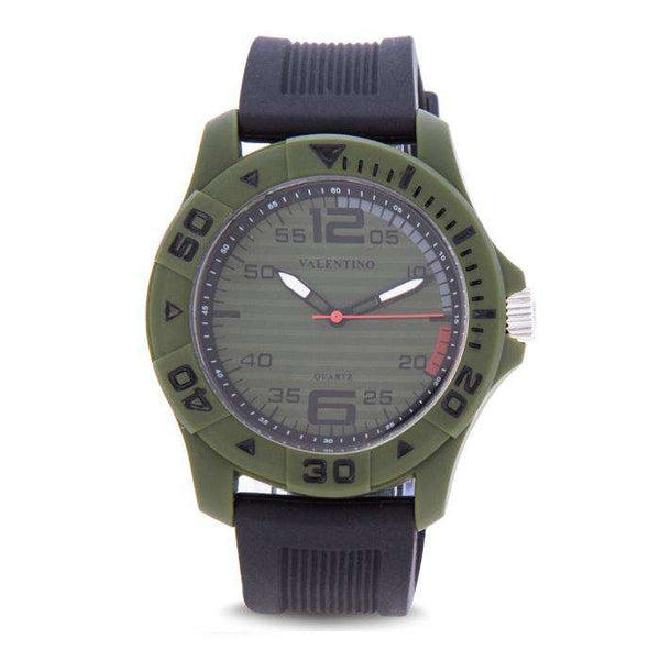 Valentino 20122097-GREEN CASE BLACK RUBBER STRAP Watch for Men