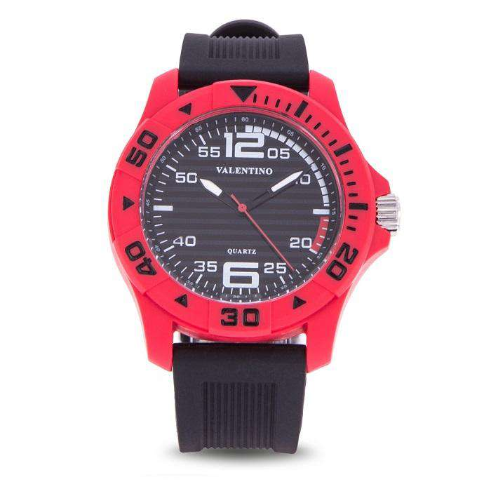Valentino 20122097-RED CASE BLACK RUBBER STRAP  Watch for Men