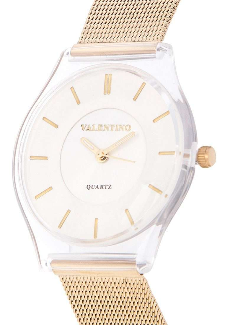 Valentino 20122098-GLD - WHT DIAL GOLD STAINLESS STEEL STRAP Watch for Women