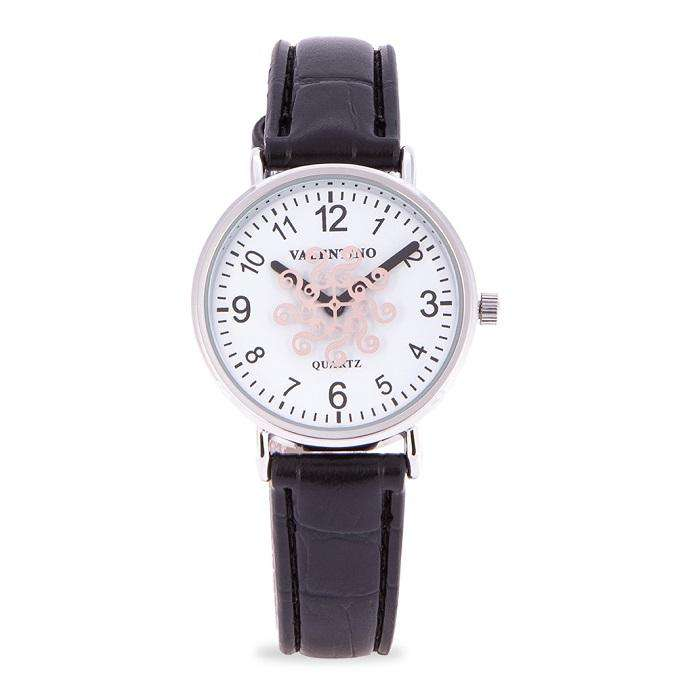 Valentino 20122100-BLACK STRAP BLACK LEATHER STRAP Watch for Women