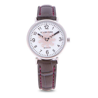 Valentino 20122100-GREY STRAP GREY LEATHER STRAP Watch for Women