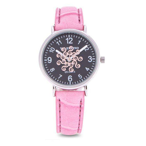 Valentino 20122100-PINK STRAP PINK LEATHER STRAP Watch for Women