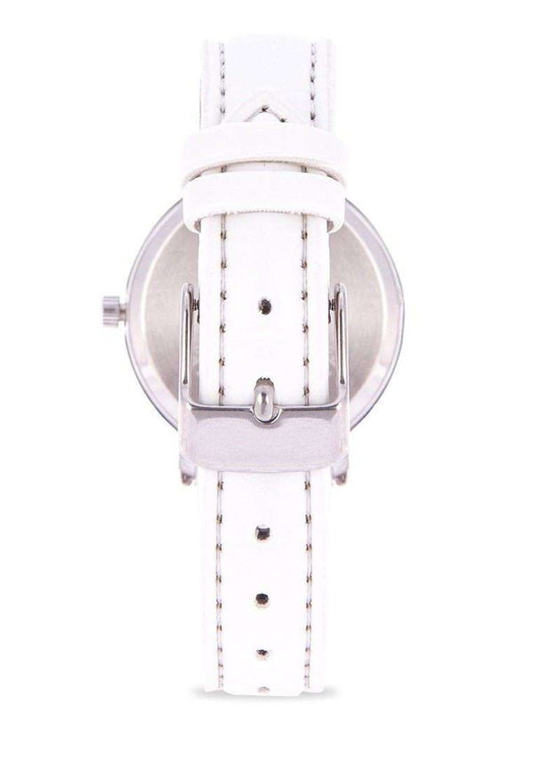 Valentino 20122100-WHITE STRAP WHITE LEATHER STRAP Watch for Women