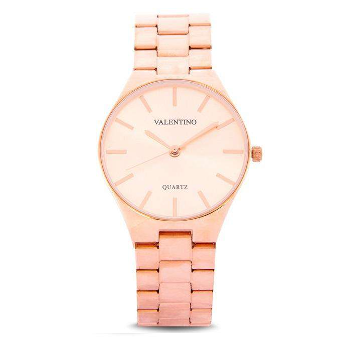 Valentino 20122113-ROSE DIAL Rose Gold Stainless Steel Band Watch for Women