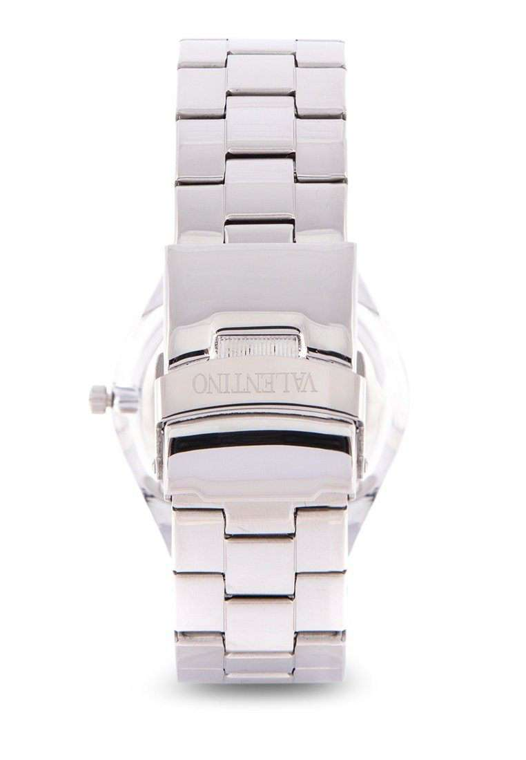 Valentino 20122114-BLACK DIAL Silver Stainless Steel Band Watch for Women