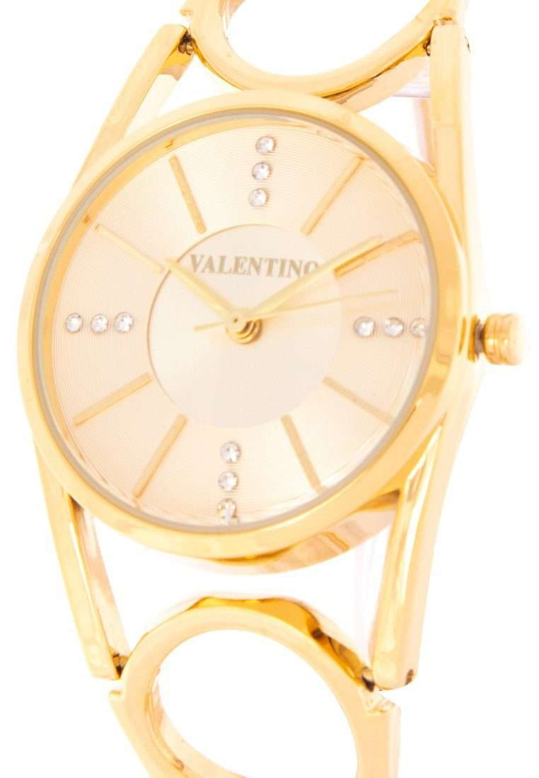 Valentino 20122115-GOLD DIAL Gold Fashion Metal Band Watch for Women