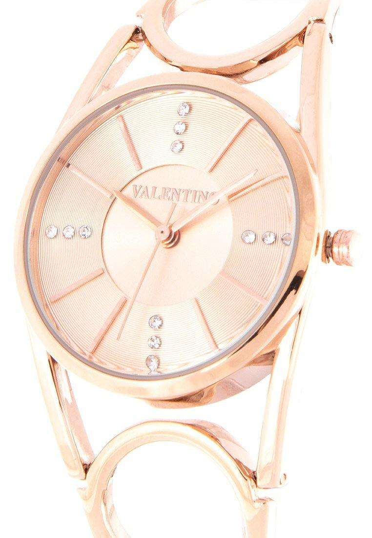 Valentino 20122116-ROSE DIAL Rose Gold Fashion Metal Band Watch for Women