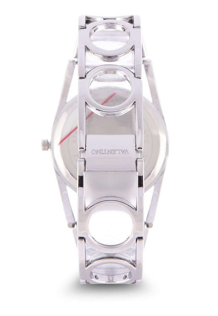 Valentino 20122117-PINK DIAL Silver Fashion Metal Band Watch for Women