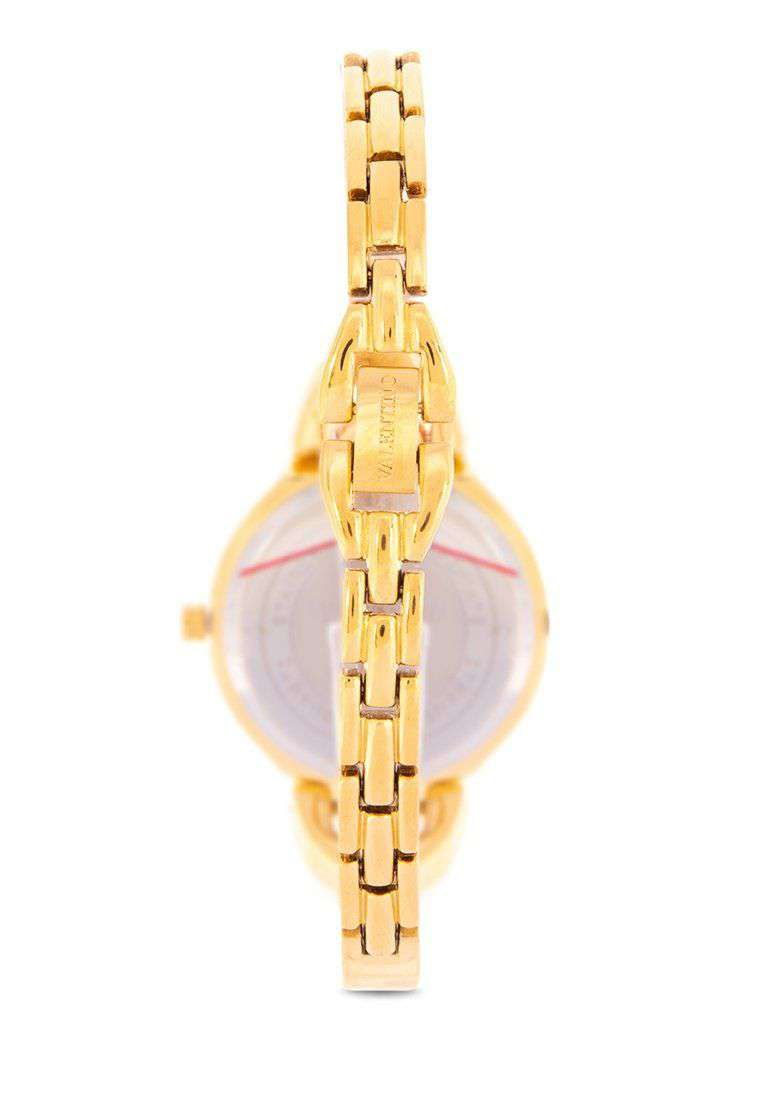 Valentino 20122118-WHITE DIAL Gold Fashion Metal Band Watch for Women