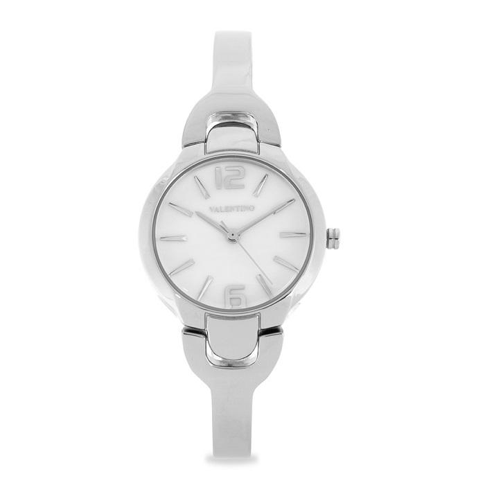 Valentino 20122120-WHITE DIAL Silver Fashion Metal Band Watch for Women